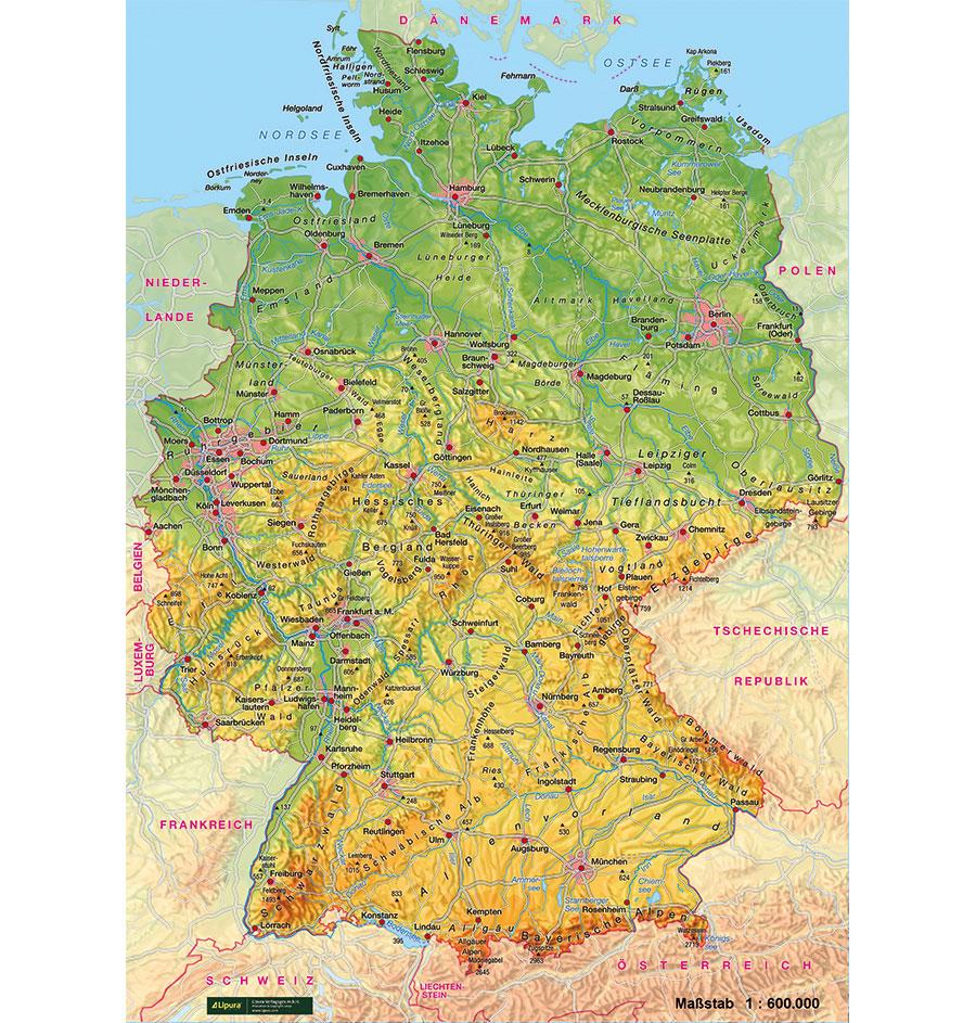 Deutschland Teppich Physisch Spiel Und Unterrichtsmaterialien