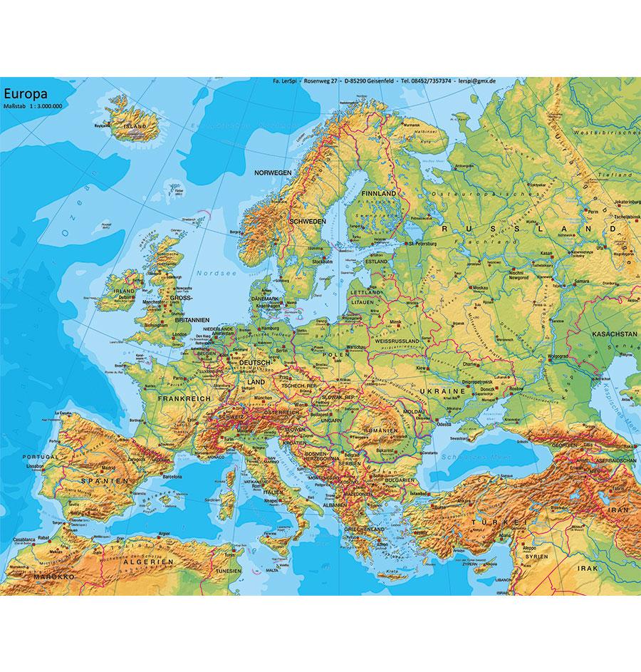 Europa Teppich Physisch Spiel Und Unterrichtsmaterialien