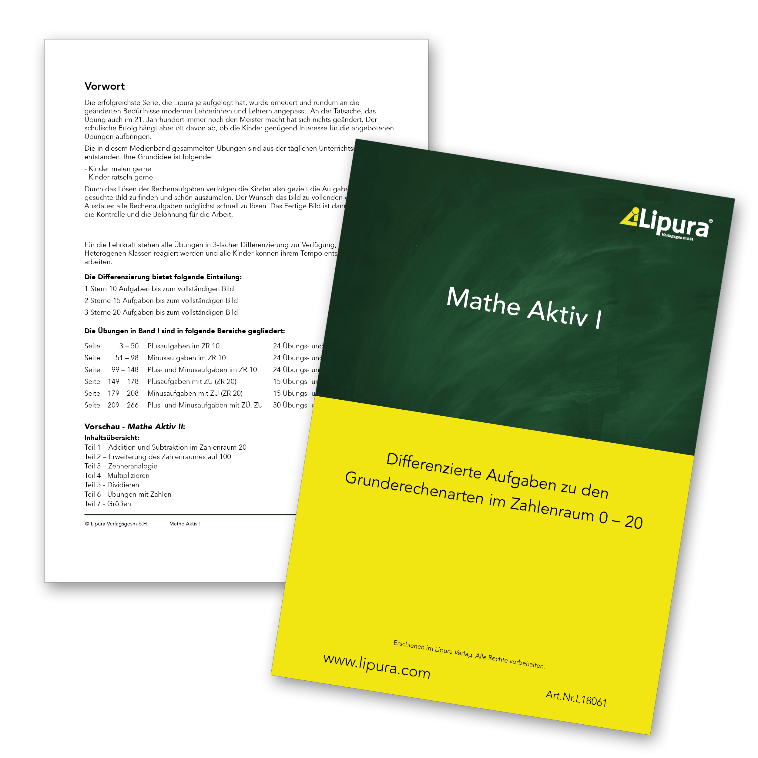Mathe Aktiv I - Spiel- und Unterrichtsmaterialien | Lipura rapuli